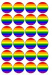 24 x Gay Pride edible wafer paper bun cup cake toppers